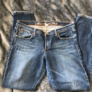 A&F ANKLE ZIP JEANS SIZE 10
